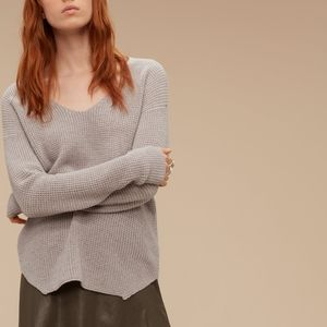 SOLD * ARITZIA WILFRED WOLTER WOOL SWEATER GREY XS
